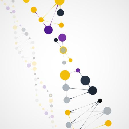 cytosine: Abstract DNA, futuristic molecule cell illustration Stock Photo