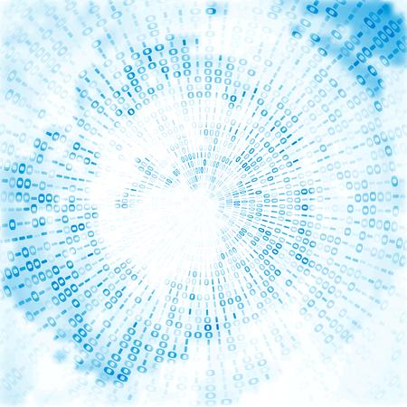 codigo binario: Fondo del c�digo digital, ilustraci�n abstracta