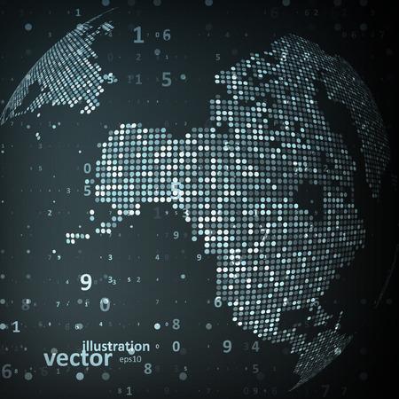 世界の技術のイメージ。概念ベクトル図 eps10
