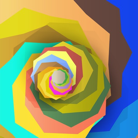 sharp curve: Abstract dynamic illustration, colorful art background