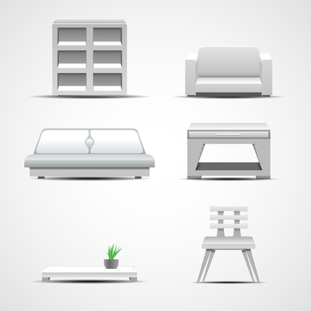 home furnishings: Furniture icons. Graphic concept for your design illustration