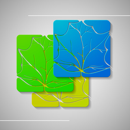 cosmetician: Set of abstract leafs illustration, graphic concept for your design. Stock Photo