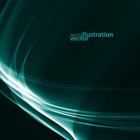 blue energy: Abstract dynamic background, futuristic wavy Illustration