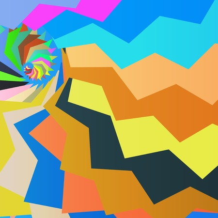 modish: Abstract dynamic illustration, colorful art background