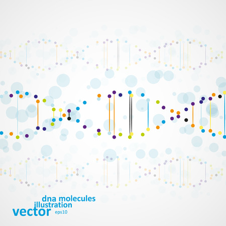 deoxyribose: Abstract DNA, futuristic molecule, cell illustration Illustration