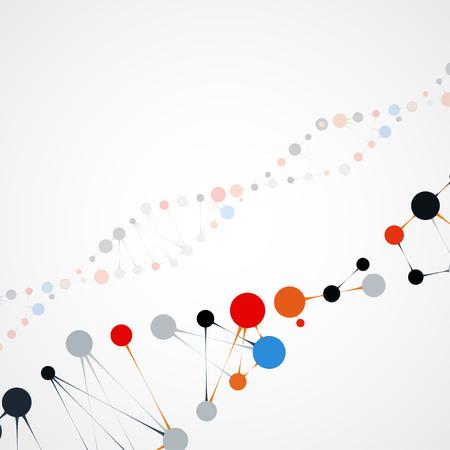 deoxyribonucleic acid: Abstract DNA, futuristic molecule cell illustration Stock Photo