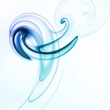 painted the cover illustration: Abstract dynamic background, futuristic wavy illustration