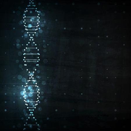 biotecnologia: ADN futurista, la molécula de resumen ilustración celular