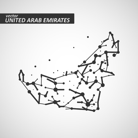 papery: Technology image of United Arab Emirates. The concept vector illustration Illustration