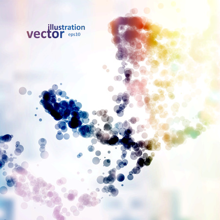 imaginacion: ADN futurista, la mol�cula de resumen Vectores