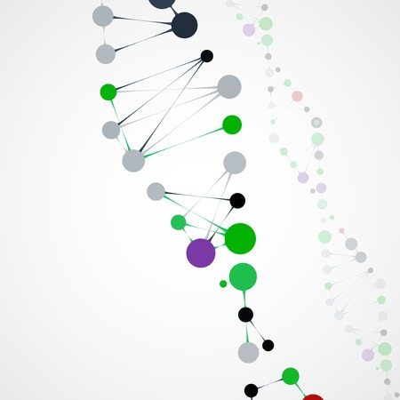 encoded: Abstract DNA, futuristic molecule cell illustration Stock Photo