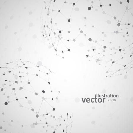 vector  molecular: Molecular structure, network connection, abstract vector illustration