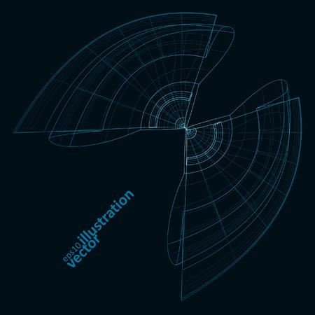 abstracto de la tecnología, dibujo técnico vector, espacio brillante