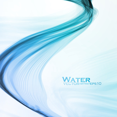 Fondo abstracto del agua, vector onda ilustración eps10 Ilustración de vector