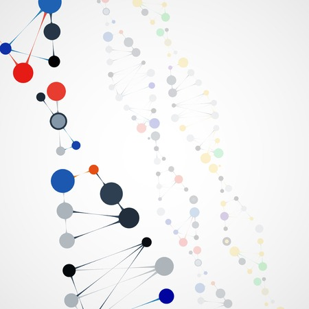 deoxyribose: Abstract DNA, futuristic molecule cell illustration Stock Photo