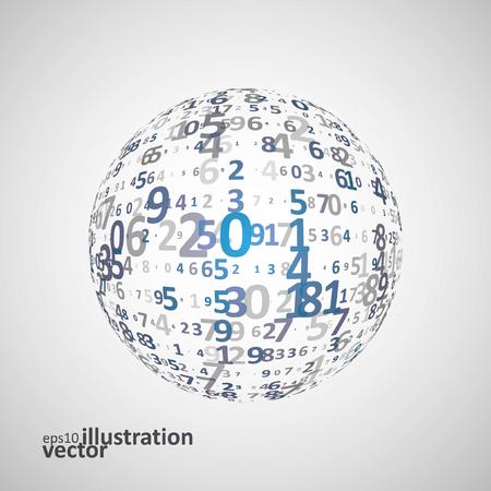 digital background: Digital code background Illustration