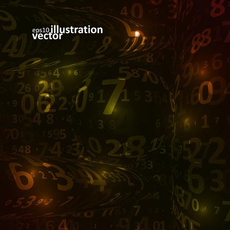 digital code: Digital code background, abstract vector illustration Illustration