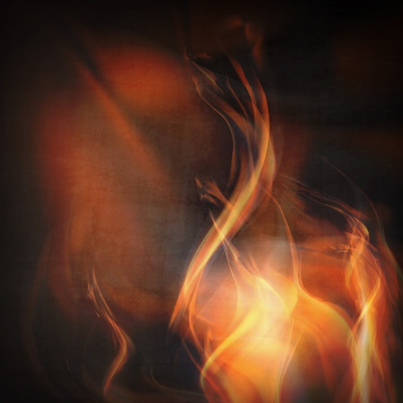 flames background: Abstract fire flames on a black background. Colorful illustration
