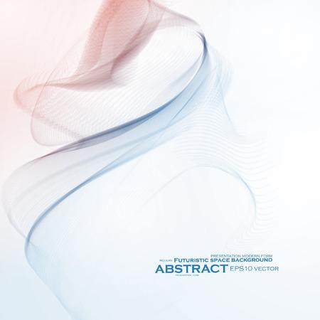 worshiping: Abstract dynamic background, futuristic wavy Illustration
