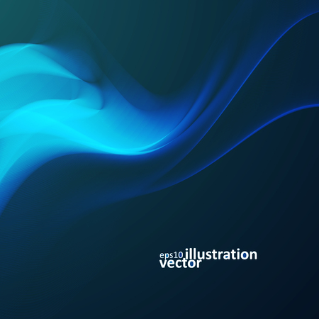 flux: Abstract dynamic background, futuristic wavy Illustration