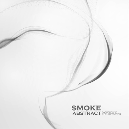water weed: Cigarette smoke waves, abstract Illustration