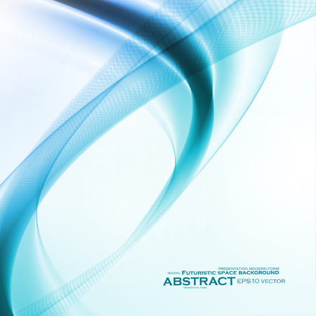 abstract waves background: Abstract motion smooth blue Illustration