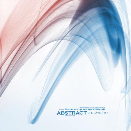 Abstract dynamic background, futuristic wavy vector illustration Illustration