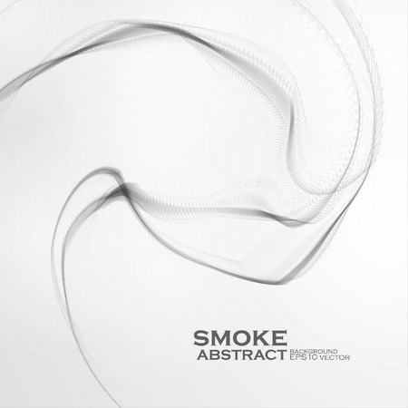 water weed: Cigarette smoke waves, abstract wavy vector illustration