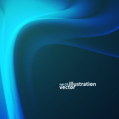 flux: Abstract dynamic background, futuristic wavy vector illustration Illustration