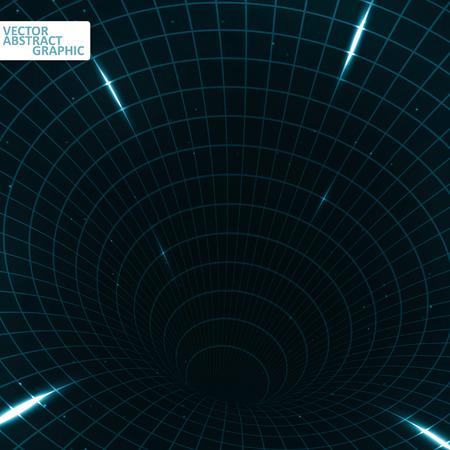 teleportation: Abstract teleportation futuristic illustration, creative dynamic element Illustration