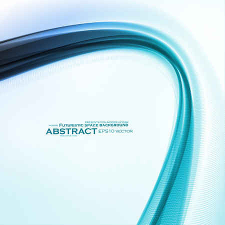 Abstract motion smooth blue, futuristic wavy vector illustration