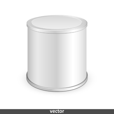 tin can: Metal tin can, canned food. Illustration isolated on white background. Graphic concept for your design