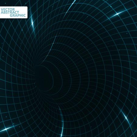 teleportation: Abstract teleportation futuristic illustration, creative dynamic element, vector