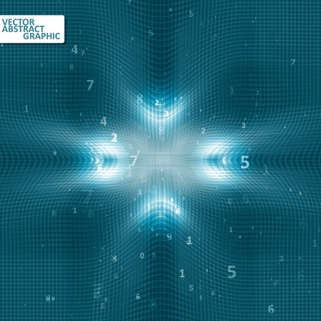 futurist: Digital code background, abstract vector illustration eps10 Illustration