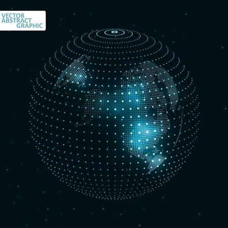 social movement: Technology image of globe. The concept vector illustration Illustration