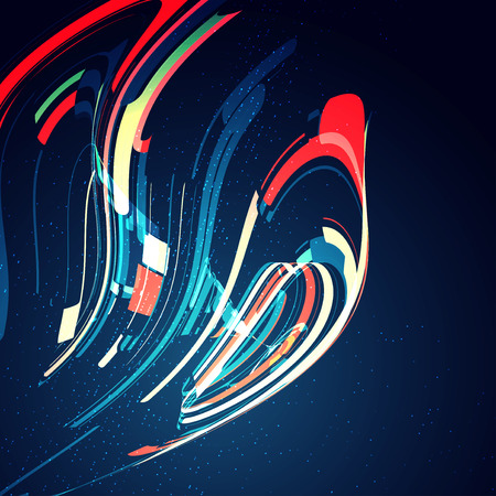 abstract swirl: Abstract dynamic background, futuristic wavy illustration