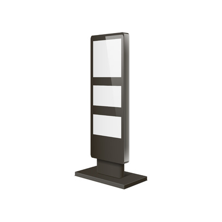 lightbox: Empty retail stand. Illustration isolated on white background. Graphic concept for your design