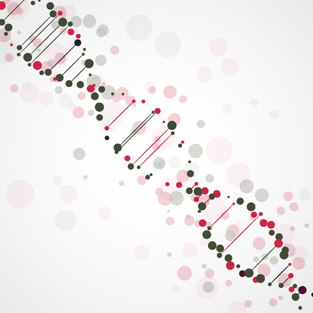 deoxyribonucleic: Abstract DNA, futuristic molecule cell illustration Stock Photo