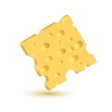 De kaas. Illustratie op een witte achtergrond. Grafisch concept voor uw ontwerp