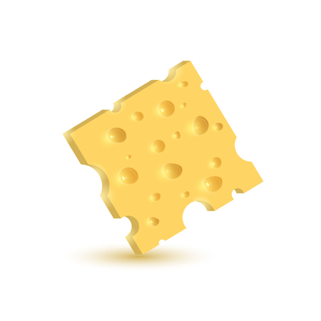 The cheese. Illustration isolated on white background. Graphic concept for your design Illustration