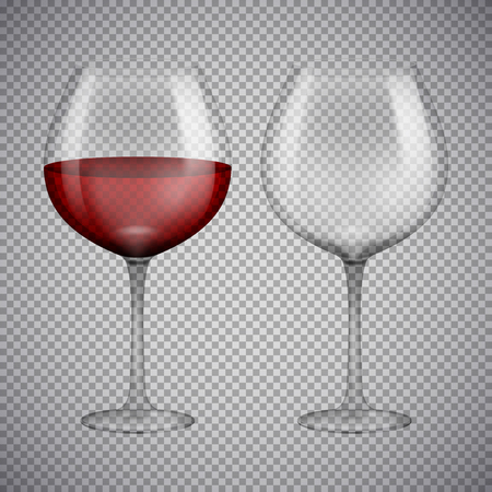 Wineglass with red wine. Illustration isolated on background. Graphic concept for your design Imagens - 74064738