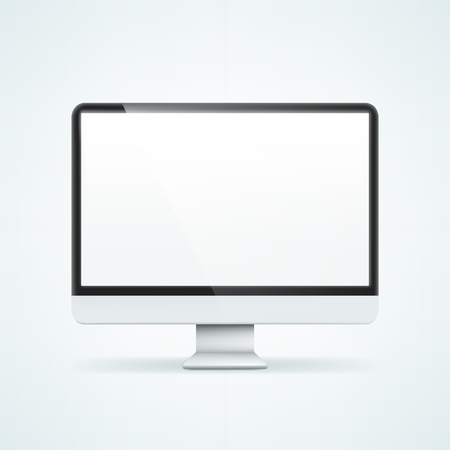 lcd: Computer Display. Illustration isolated on background. Graphic concept for your design Illustration