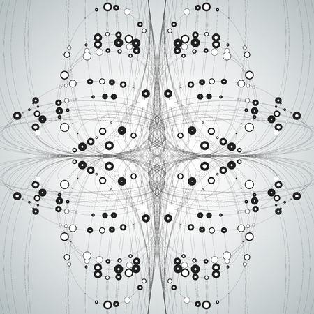 electronic circuit: Abstract stylish background, technology illustration Illustration