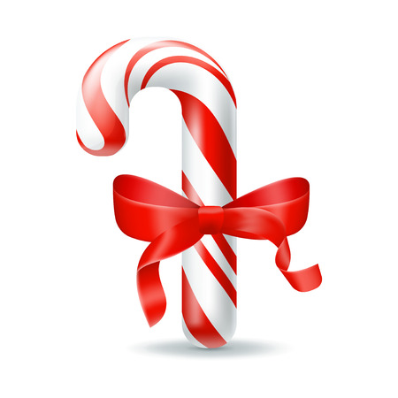 Christmas candy. Illustration isolated on white background. Graphic concept for your design