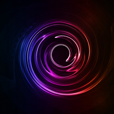 spiritual energy: Colorful abstract background, futuristic wavy illustration