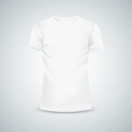 mesh: Male T-shirt template mockup. Illustration isolated background. Graphic concept for your design Illustration