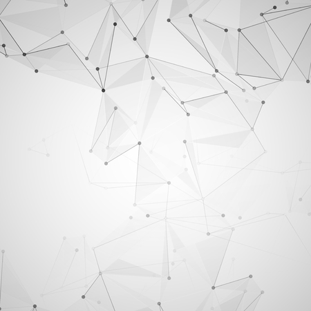 metal mesh: Abstract polygonal space. Background with connecting dots and lines. The concept illustration