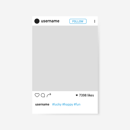 Social network photo frame. Illustration isolated on background. Graphic concept for your design Иллюстрация