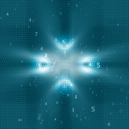 futurist: Digital code background, abstract illustration