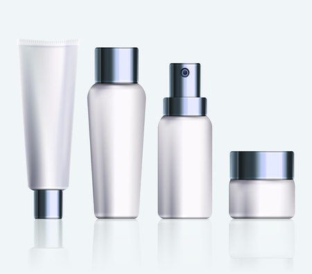 Cosmetic products. Illustration isolated on background. Graphic concept for your design Çizim